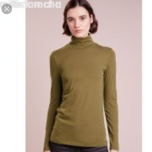 J.Crew Mustard Yellow Tissue T Turtleneck